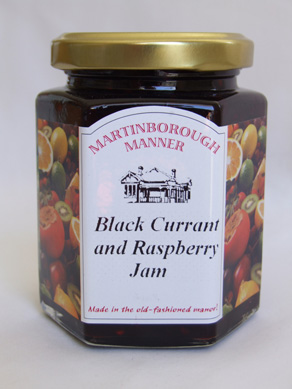 Black currant and raspberry jam